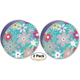 Premium Cookie Tin Decorative Flower Blossom, Empty - Cookie Gift Tins, Extra Thick Steel