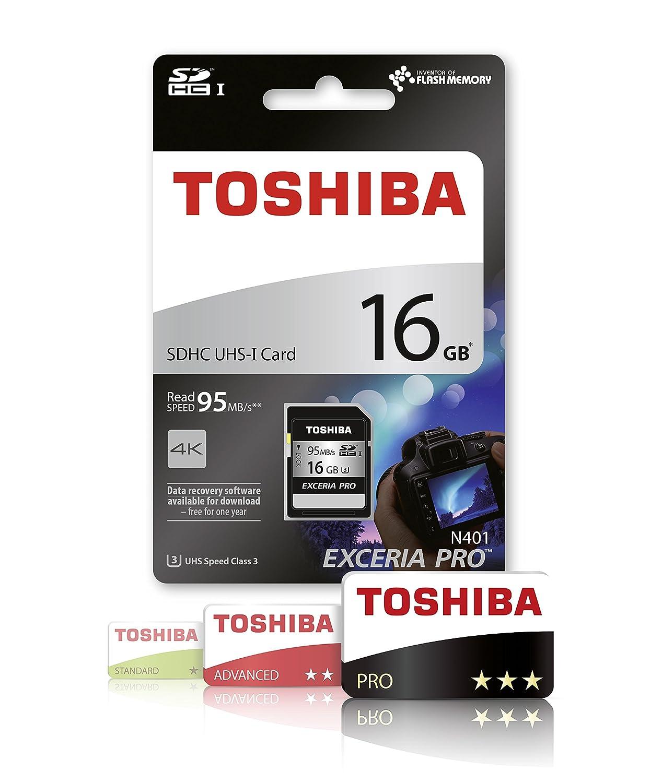 Toshiba N401 scheda di memoria SDXC Exceria Pro 64GB 95MB//s U3 Classe 10 UHS-I