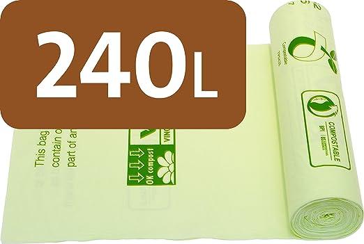 Alina 240L con Ruedas – Bolsas de Basura compostables residuos de ...