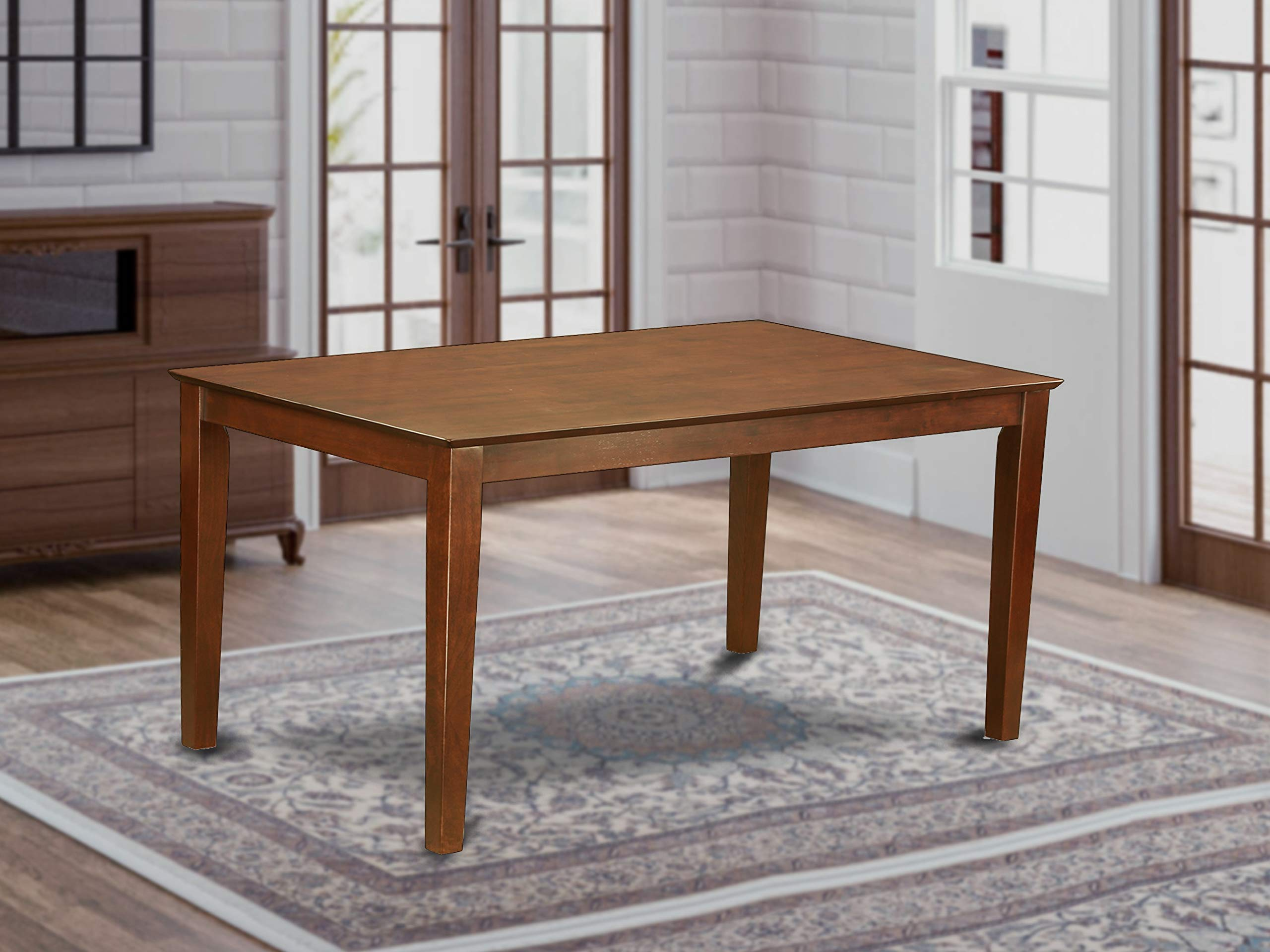 East West Furniture CAT-MAH-S Rectangular Dining Table with Solid Wood Top, 36-Inch by 60-Inch by East West Furniture