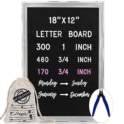 Cartel de fieltro con números y símbolos de letras de Vagski ...