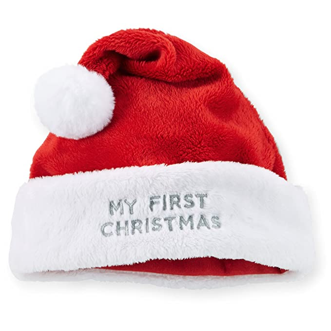 Image Unavailable. Image not available for. Color  Carter s Plush Velboa  First Christmas Santa Hat Unisex ... cae69255ca57