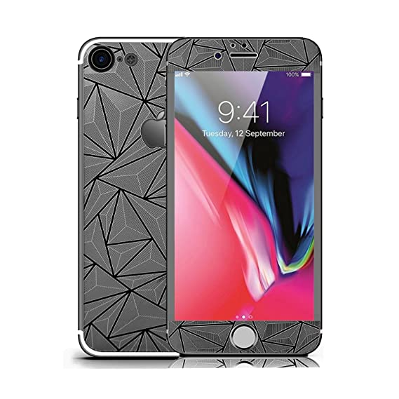 pretty nice 6d99a 61b5e for iPhone 8 Screen Protector Glass, Solomo 3D Diamonds Screen Protector  GlassGuard 9H Hardness Anti Scratch Anti Explosion Front & Back Colored ...