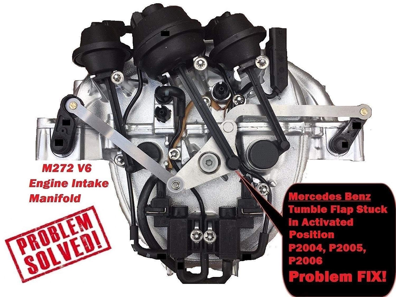 Mercedes Benz Intake Manifold Aluminum Metal Air Swirl Flap Runner Repair  Kit M272 V6 Gasket RK09 C230 C250 C280 C300 C350 CLK 350 E280 E300 E350
