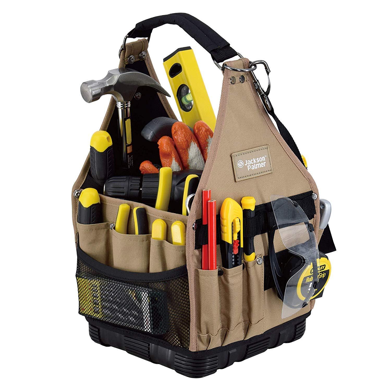 Jackson Palmer Medium 9'' Tool Tote Carrier, 27 Pockets (Electrical and Maintenance Tool Bag) by Jackson Palmer