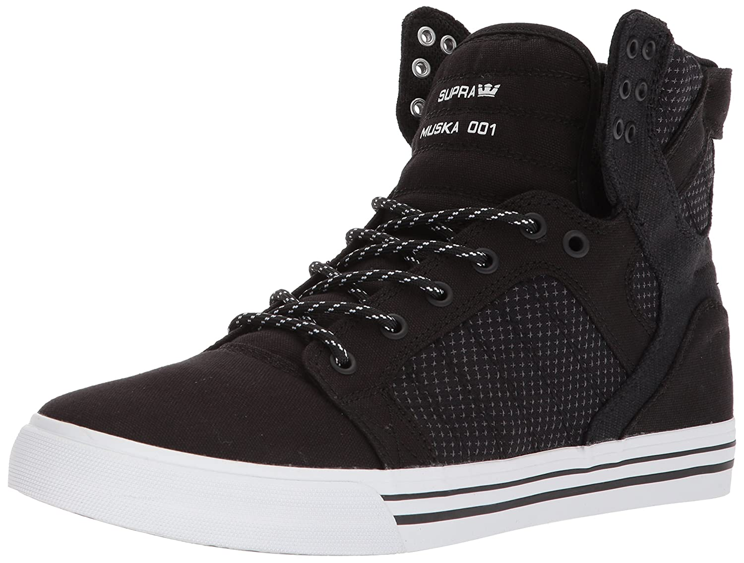 Supra Skytop Skate Shoe B074KJ3ZKT 8.5 M US|Black/Dark Grey/White