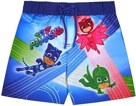 JollyRascals Pantalones cortos de natación para niños PJ MASK Bermudas bañadores bañadores vacaciones de verano fiesta ropa de playa ropa de playa ...