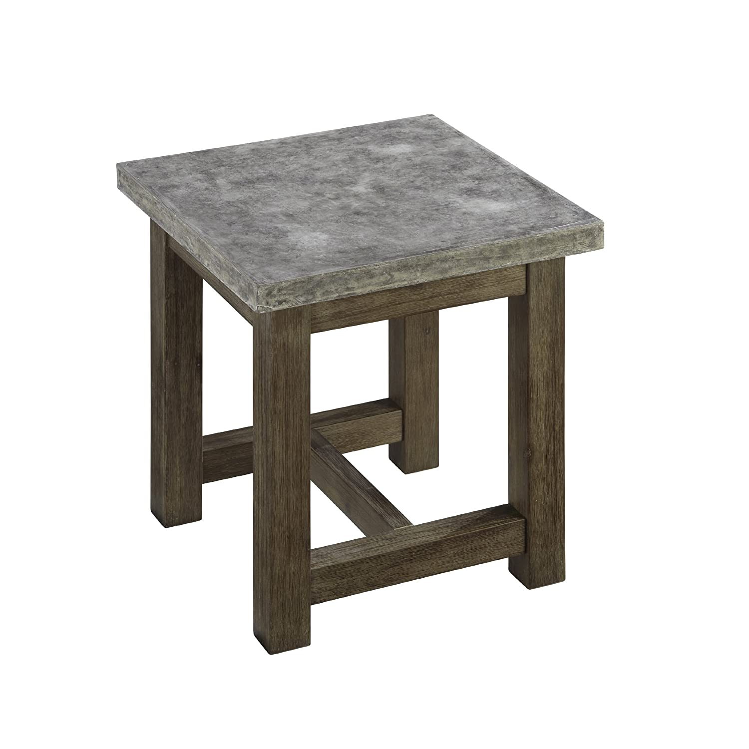 concrete and wood furniture. Amazon.com: Home Styles 5133-20 Concrete Chic End Table: Kitchen \u0026 Dining And Wood Furniture Y