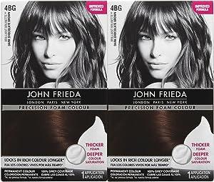 John Frieda Precision Foam Hair Colour, Dark Chocolate Brown 4BG, 2 pk