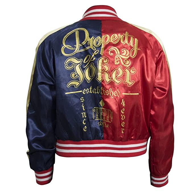 Amazon.com: Suicide Squad Womens Property of Joker Jacket ...