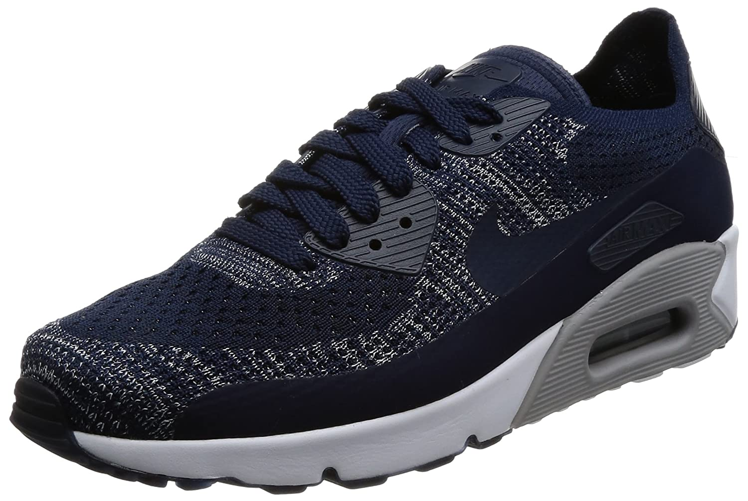best loved 6aecf 7b09b Nike AIR MAX 90 Ultra 2.0 Flyknit Mens Fashion-Sneakers 875943-401_9.5 -  College Navy/College Navy-Wolf Grey