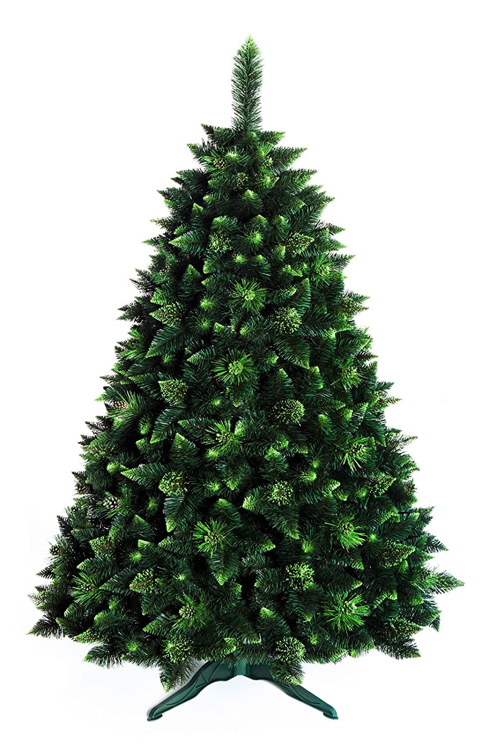 DWA CHRISTMAS TREE 7ft New Boxed Traditional Forest Green Luxury TREE - 220cm - OLIVE PINE with crystals