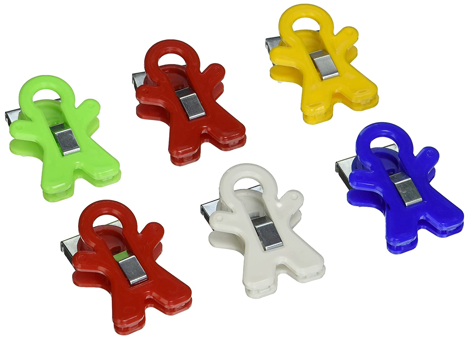 Adams 3303-50-0569 People Shaped Magnet Clip, Assorted Colors Adams Mfg Corp