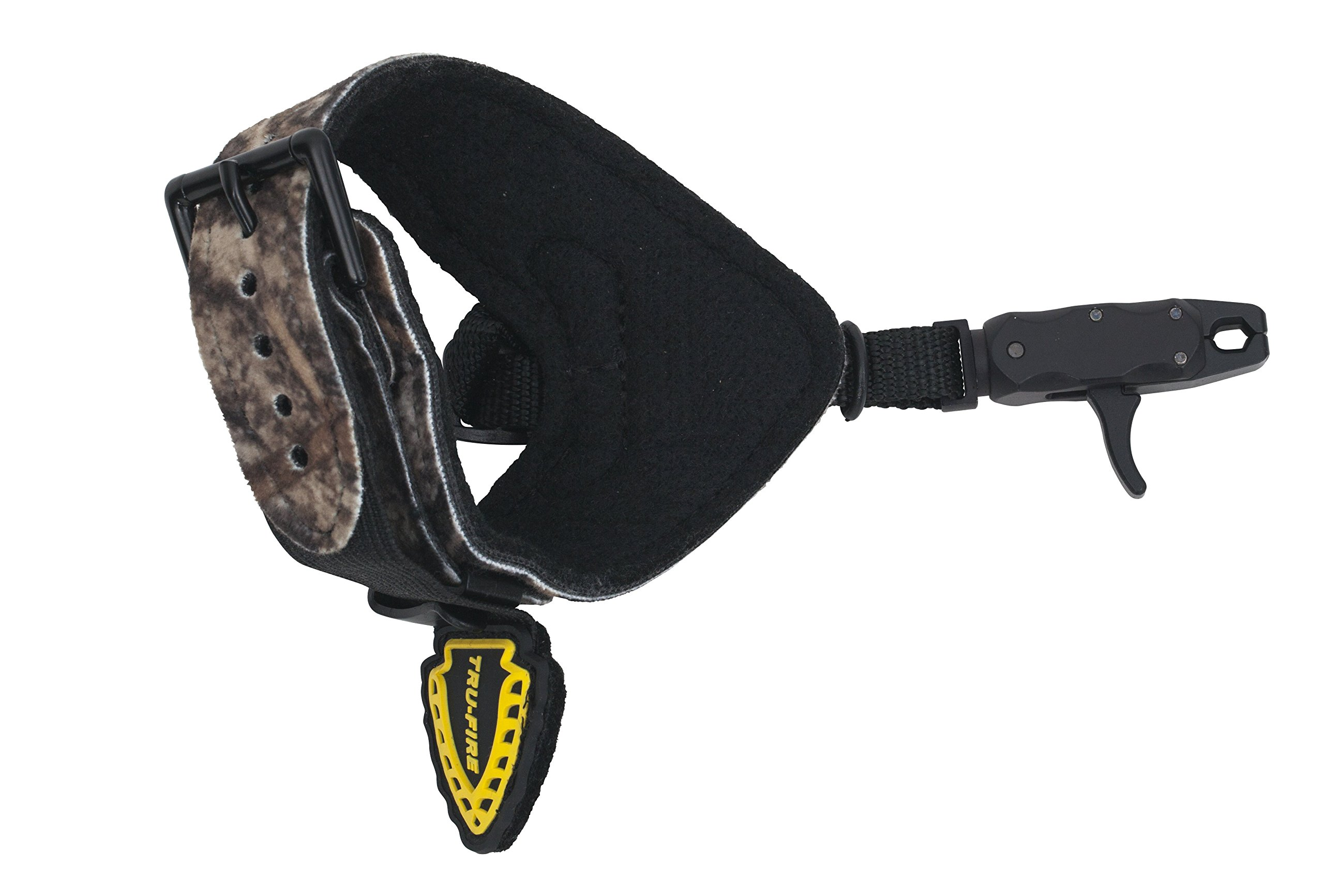 TruFire Hurricane Extreme Buckle Web Camo Archery Compound Bow Release - Fits Small, Junior, Youth