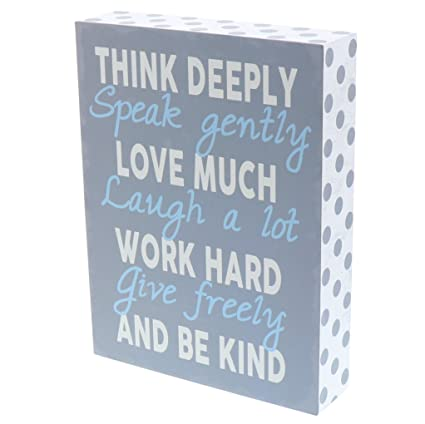 Amazon.com: Barnyard Designs Think Deeply Speak Gently Love Much Box ...
