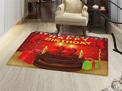 Amazon.com: smallbeefly primer cumpleaños Felpudo alfombra ...