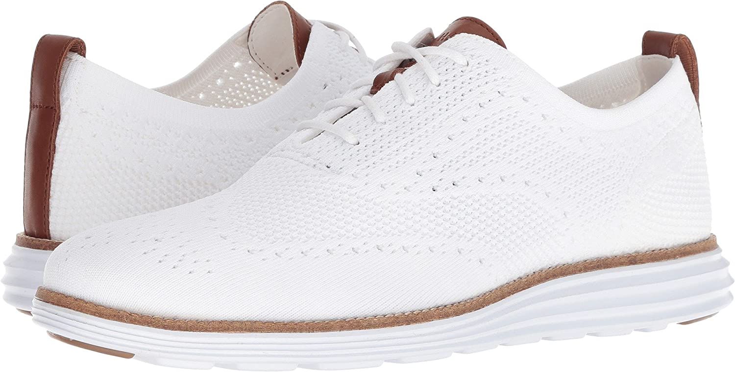 Optic White-white Cole Haan Men's Original Grand Knit Wing TIP II