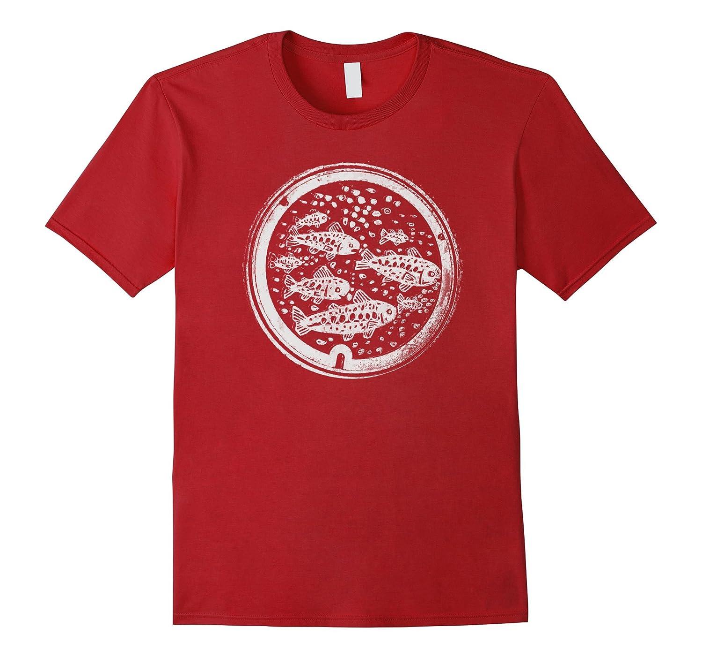 Tokyo Manhole Cover Print Shirt Japan Travel tShirt-T-Shirt