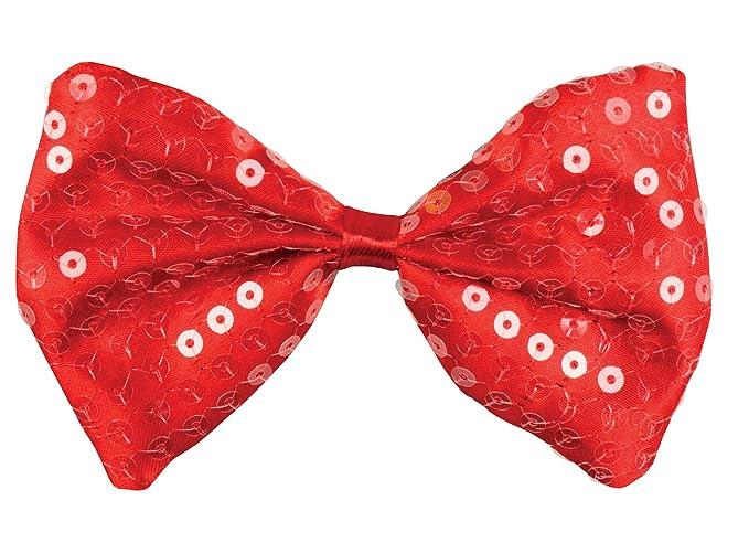 Boland 53124 Pajarita lentejuelas Spangles, rojo, talla única ...