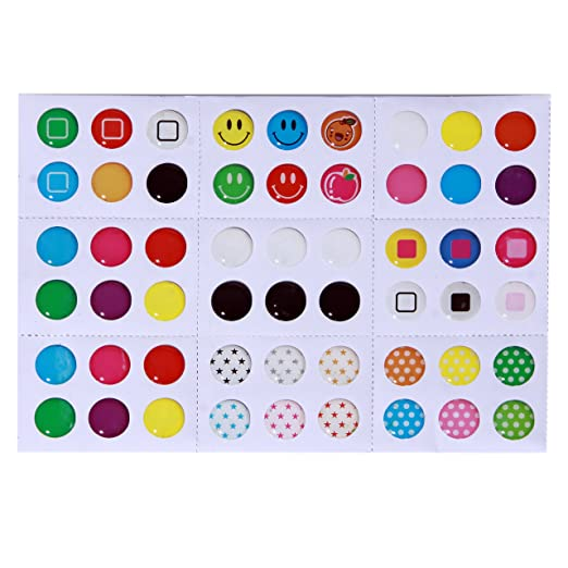 Amazon.com: Home Button Stickers! 216 Choices! Polka Dots, Colorful  Bubbles, Emojis! Fit Apple IPhone 4s, 5/5c/5s, 6/6 Plus, SE, IPod Touch 4,  5, 6, IPad 3, ...