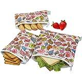 Wegreeco Reusable Snack Bags, (Set of 3) - Lovely Bird