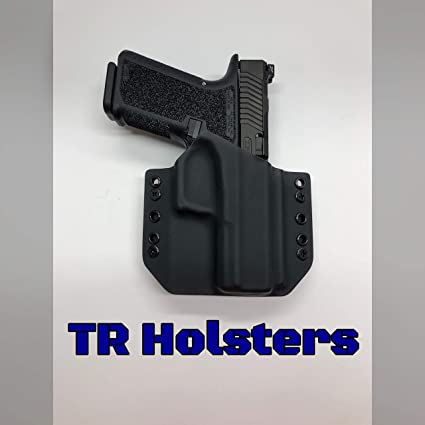 Amazon com : Black Kydex Holster Glock 19 p80 (Polymer80