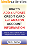 HOW TO ADD & UPDATE CREDIT CARD AND AMAZON ACCOUNT INFORMATION: Step By Step Guide With Screenshots On How To Change Amazon Account Profile