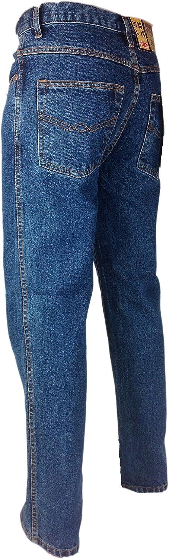 Mens Tough Heavy Duty Regular Fit Denim Jeans Waist Size 30 52 Leg 29 31 33