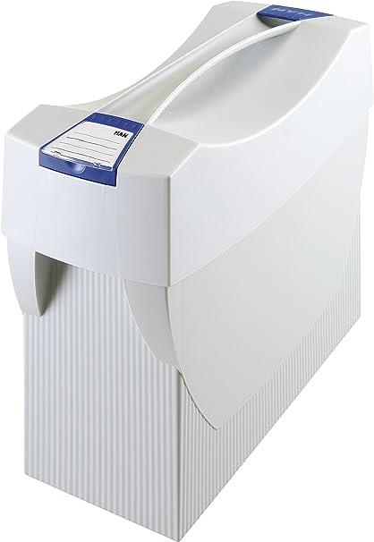 Han Swing Plus - Caja para carpetas colgantes (con compartimentos integrados para bolígrafos, 397 x 347 x 154 mm), color gris: Amazon.es: Oficina y papelería
