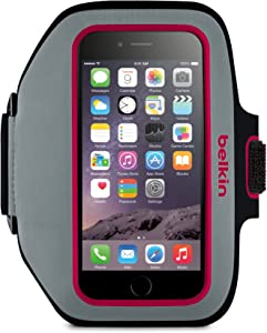 Belkin Sport-Fit Plus Armband for iPhone 6 / 6S, Fitbit Alta, Fitbit Blaze and Fitbit Charge HR (Gray/Fuschia)