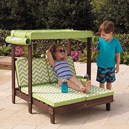 KidKraft Outdoor Double Chaise Lounge Chair with Canopy - Amazon.com: KidKraft Outdoor Double Chaise Lounge Chair With Canopy