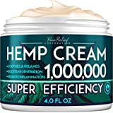 Hemp Pain Relief Cream 1,000,000 - Natural Hemp Extract Cream for Arthritis, Back Pain & Muscle Pain Relief - Efficient Infla