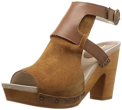 2f2e370fda84 Jambu Women s Gina Heeled Sandal Cognac 10 Medium US