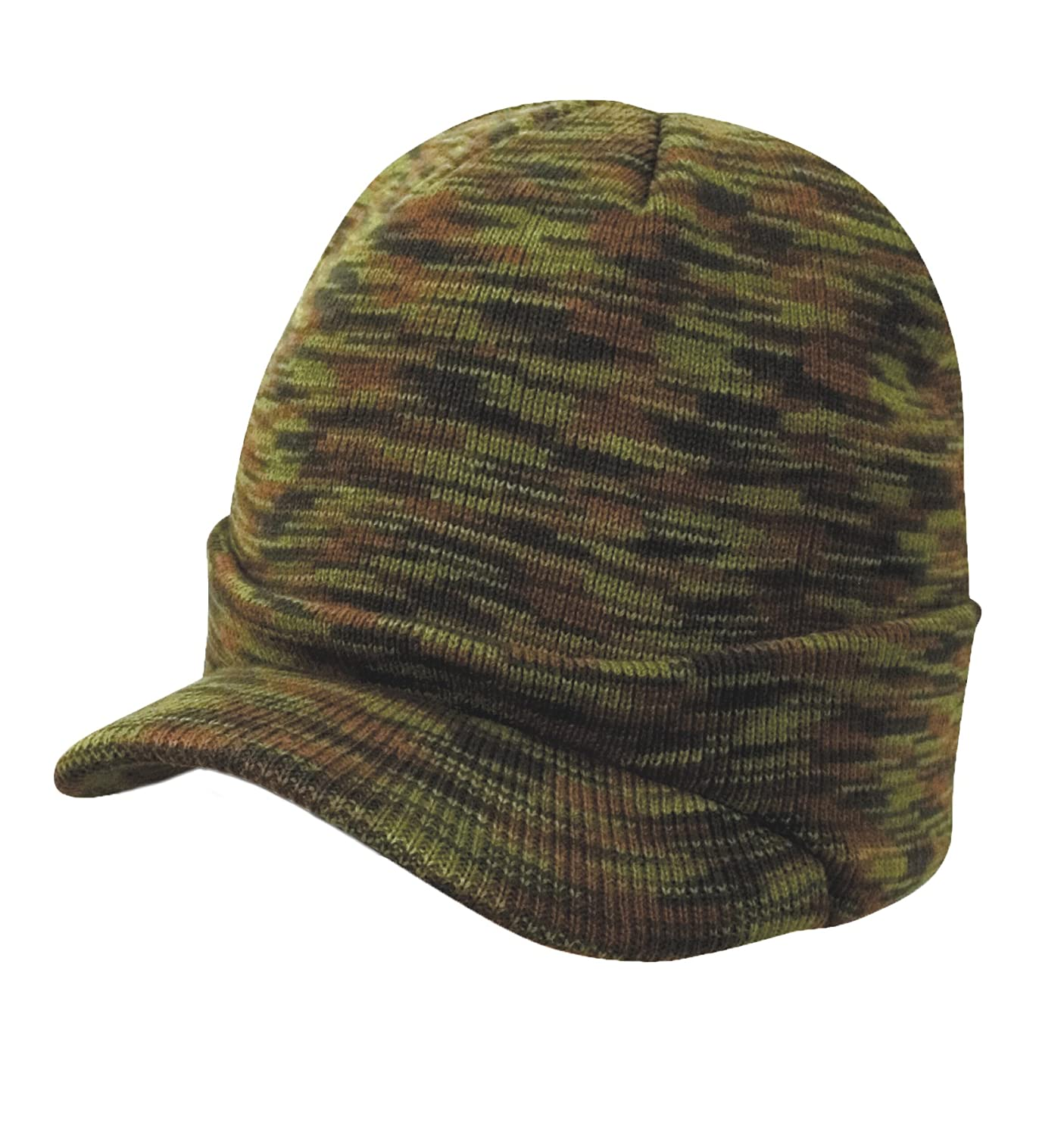 Youth Peaked Beanie Hat Winter Army Cadet Wooly Cap RC-060-KIDS-KHAKI