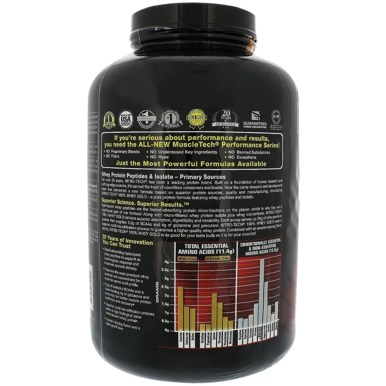 Muscletech Nitro-Tech Whey Gold - 2,5 kg Cookies and Cream: Amazon.es: Alimentación y bebidas
