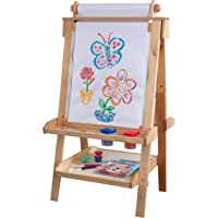 KidKraft Deluxe Wood Easel-Natural