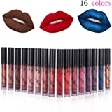 16 Colors Waterproof Long Lasting Durable Matte Liquid Lipstick Beauty Lip Gloss, Sexy Moisturizing Lipstick Lip Gloss Fashionable Colors Long Lasting Lipsticks Set