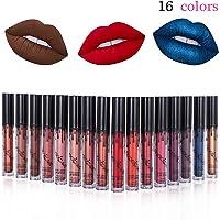 Rouge à lèvres, 16 Couleurs Longue Durée Waterproof Rouge à Lèvres Mat, Liquide Beauté Brillant Lip Gloss matte, Longue Tenue Gloss liquid Lipstick mat