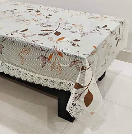 Buy STITCHNEST - Table Cover Anti Skid PVC Oval 4 Seater 40 X 60 Inches White Table Cover Pack of 1 Online at Low Prices in India - Amazon.in & Buy STITCHNEST - Table Cover Anti Skid PVC Oval 4 Seater 40 X 60 ...