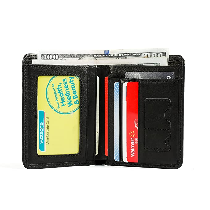 17e2d59f327e Onstro RFID Blocking Bifold Wallet Slim Genuine Leather Card Holder ...