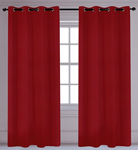 Best window curtain panel: LJ Home Fashions 98 Luxura Light Reducing Privacy Grommet Curtain Panels Set of 2 56″ W x 95″ L