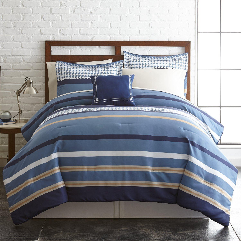6 – または – 8点リバーシブル掛け布団セット、ウルトラソフト&低刺激性Complete Bedding Set by Pacific Coast Textiles フル 4BDSTPRTG-STR-FL B06Y3PV3HZ フル|Traditional Stripe Traditional Stripe フル