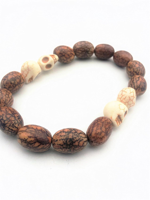 Handmade Skull Bead Pirate Bracelet