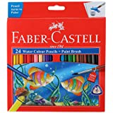 Faber-Castell Water Color Pencils with Paint Brush - Pack of 24 (Assorted)