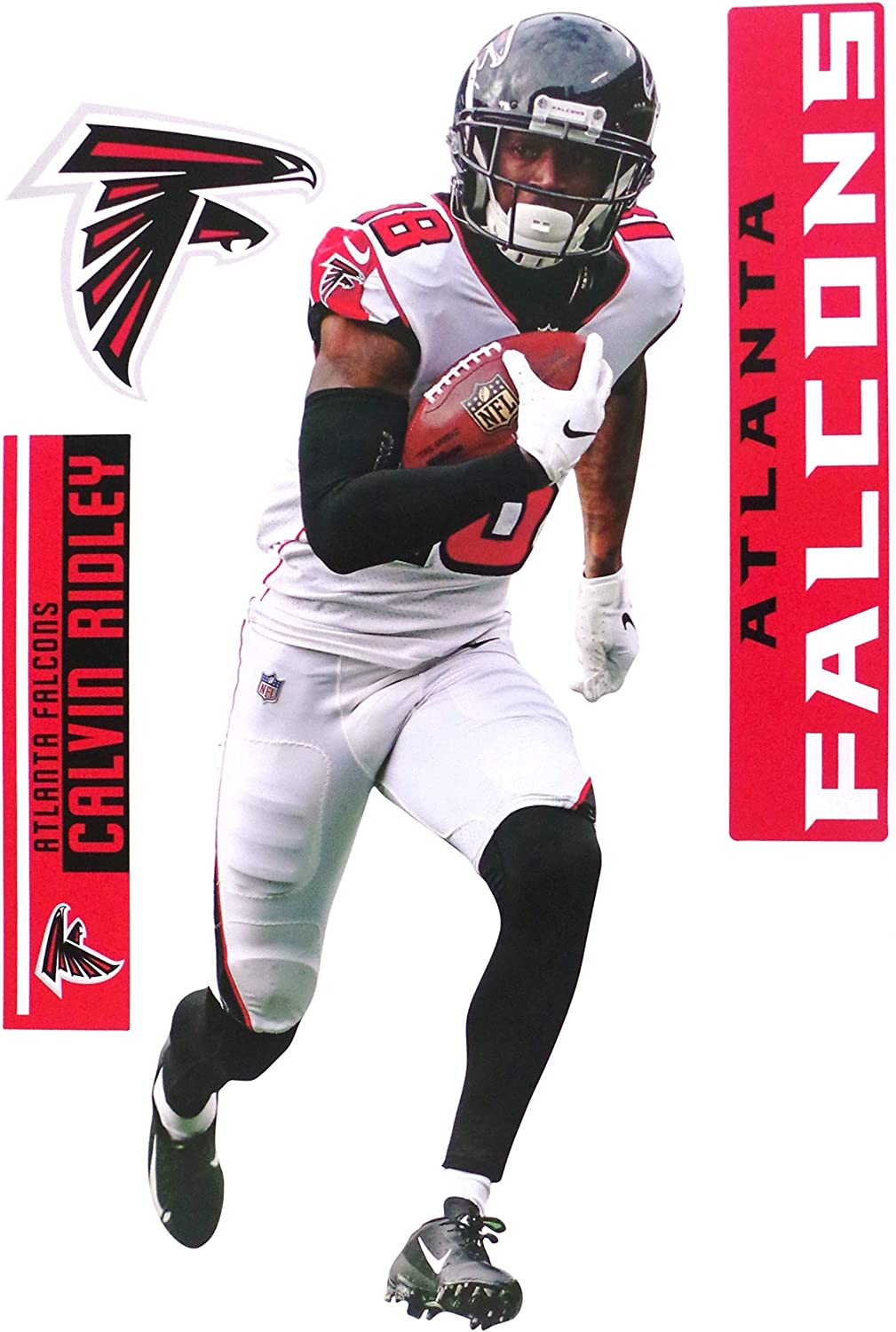Amazon Com Calvin Ridley Fathead Teammate Falcons Logo Set Official Nfl Vinyl Graphics 17 Inch Arts Crafts Sewing