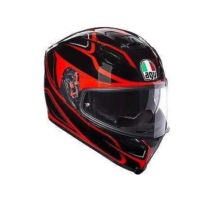 AGV Casco Moto integral K-5 S E2205 Multi plk Magnitude, Negro/Rojo, talla XL