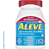 Aleve Soft Grip Arthritis Cap Tablets, Fast Acting All Day Pain Relief for Headaches, Muscle Aches, and Fever Reduction…