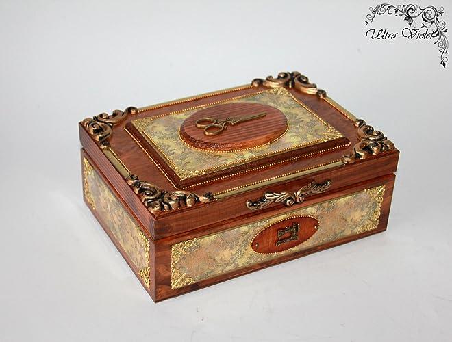 Nähen Stricknadeln Box Mit Nadelkissen Schubladen Box