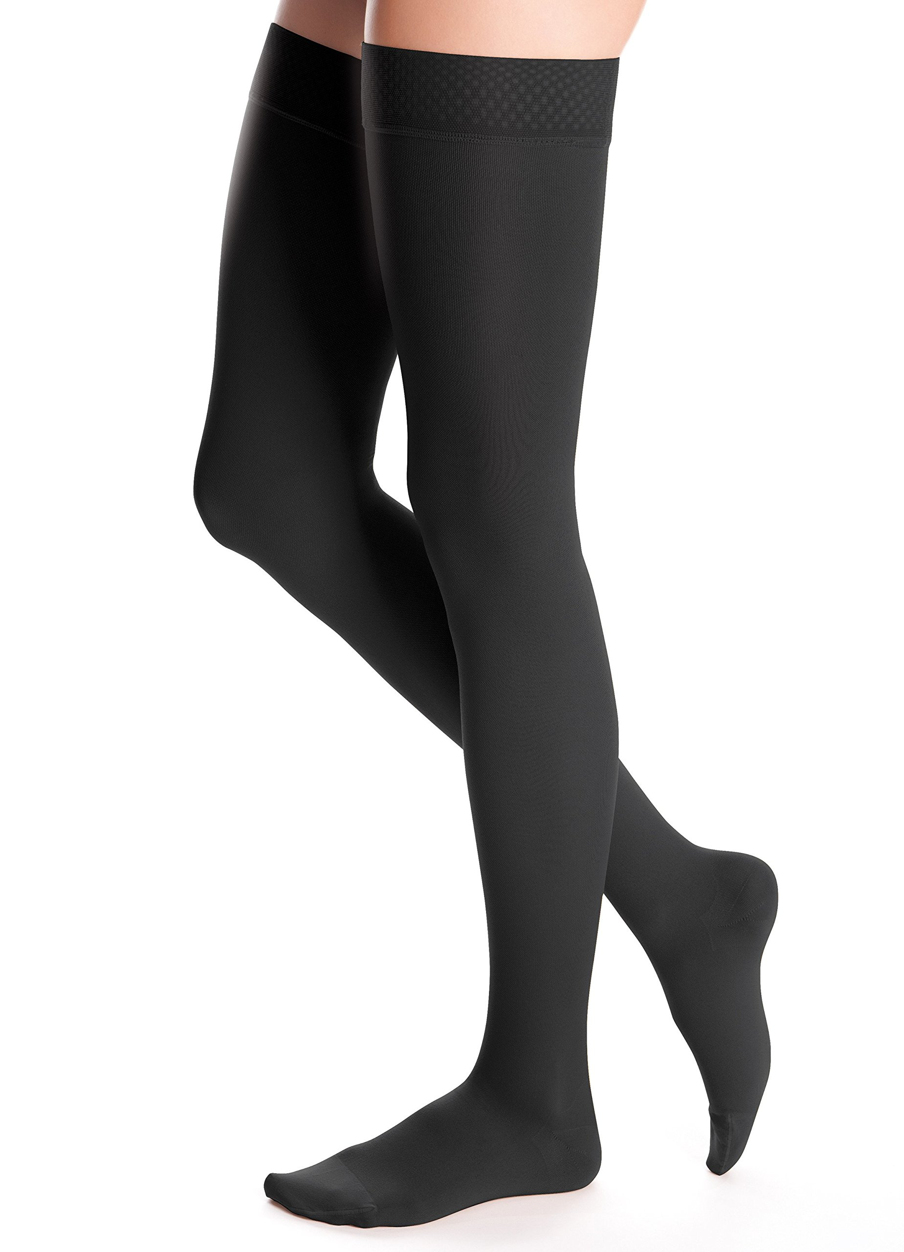 duomed Advantage, 20-30 mmHg, Thigh High with Silicone Top Band, Closed Toe