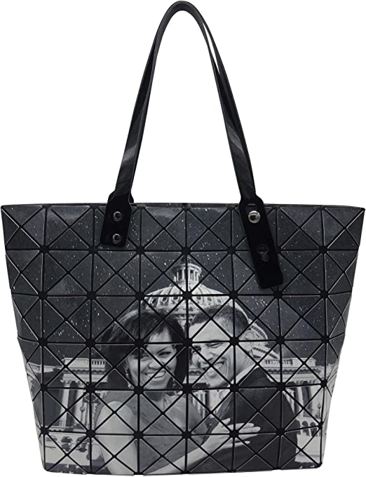 Black /& White Michelle Obama Glossy Magazine Cover Weekender Duffel Bag